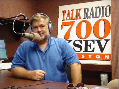 Bryon parffrey at the radio station